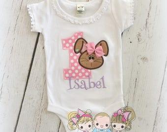 Bunny birthday shirt - Easter birthday shirt - 1st Easter shirt - First birthday shirt - Bunny rabbit birthday shirt for girls