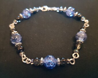 Beaded wirework bracelet