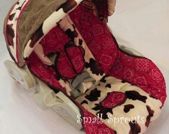Bandana Cowboy Infant Car Seat Cover 5 piece set