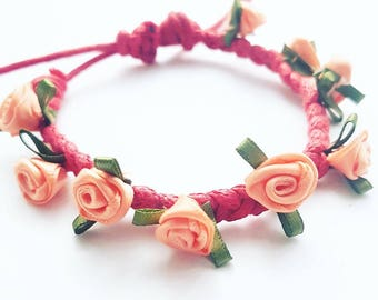 Flower garland bracelets