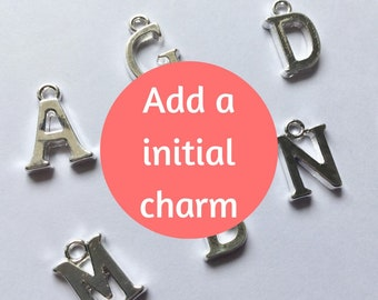 Add on Initial Charm, Initial Charms, Letter Charms, Add on Charm, Charms