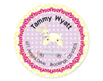 Bunny Rabbit Easter Address Labels Stickers