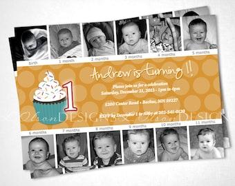 Sweet Cupcake Birthday Invitation DIY printable
