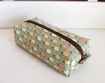 Long box pouch - hedgehog mint(LAST ONE)