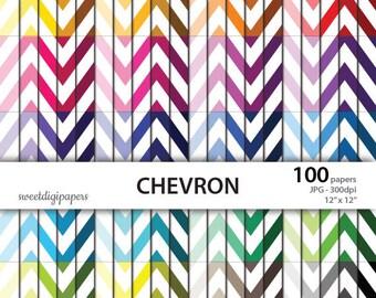 Colors chevron scrapbook, chevron digital paper, rainbow chevron paper pack, colors background, instant download