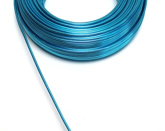 Aluminum wire TURQUOISE with a diameter of 2 mm cut