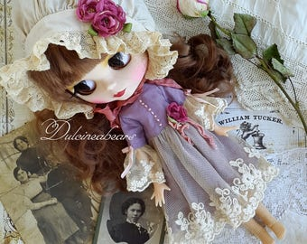 Blythe lace purple dress