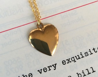 Vintage Heart Charm Necklace
