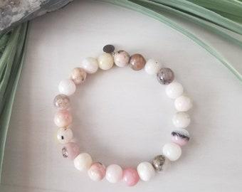 Pink Peruvian Opal Healing Bracelet