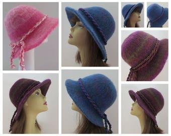 Felt Hat Pattern, Felt Hat Knitting Pattern, Felting Pattern,Wool Hat Pattern