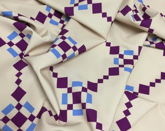 Diamond-patterned fabric for dresses, skirts, tops