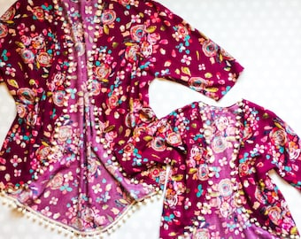 Kimono cardigan - boho kimono - mommy and me - mother daughter matching outfits - matching mother daughter outfits - boho kimono cardigans