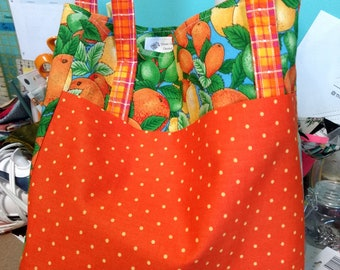 Fruity grocery bag