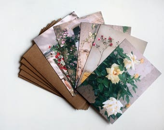 Roses of Villeneuvette - five art notecards