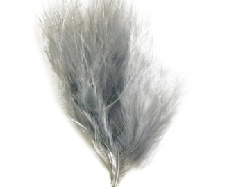 Set of 20 feather down color gray
