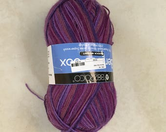 Berroco Sock Yarn, Purple, Superwash Wool & Nylon, 440 yds + Matching Bonus Skein