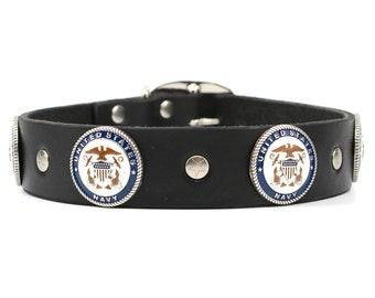 Dog Collar Leather, US NAVY, Dog Collar, Leather Collar, Leather Dog Collars, Boy Dog Collar, Collar Leather, Handmade