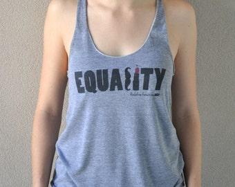 Feminist Equality Tank - Mustache Lipstick