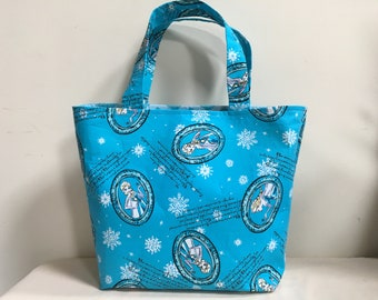 Knitting Project Bag, Scarf Bag, Project Bag, Knitting Tote, Medium Project Bag, Tote, WIP Bag, Frozen Inspired