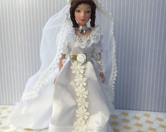 1:12 Scale dolls house Bride