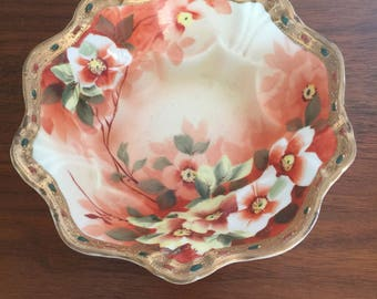 Imperial Nippon Hand Painted Footed Bowl