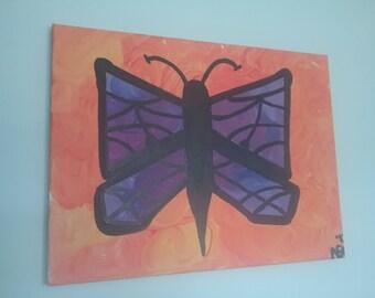 Purple Butterfly 12x16