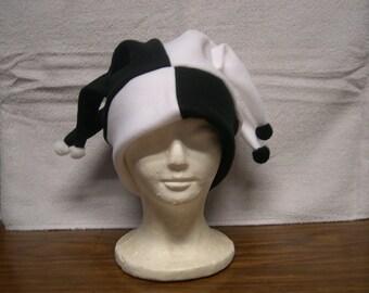 Harlequin Style fleece jester hat NEW
