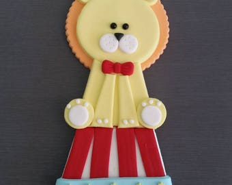 1 x Lion Cake Topper, circus lion