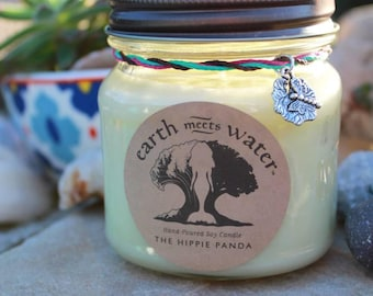 The Hippie Panda 8 oz Soy Candle Hand Poured