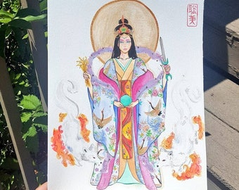Inari Shinto Goddess Art Print