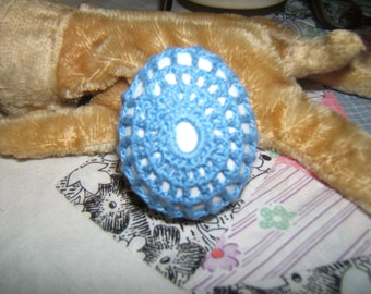 Crocheted Egg - Blue