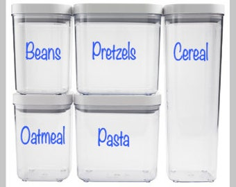 Canister Labels, Pantry Labels,  Food Labels, Snack Labels, Labels, Kitchen Labels, Pantry Organizers, .99 Shipping