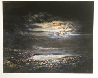 The Moon finding its way through the clouds by Diana Mackie (Fine Art Ltd Edn Print)