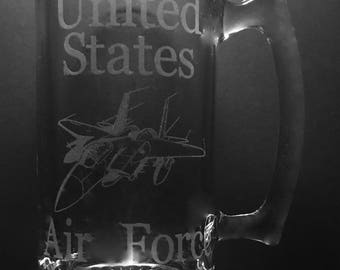 United States Air Force 25 Ounce Beer Mug