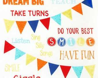 Playroom Rules 24 Inch Panel by Timeless Treasures