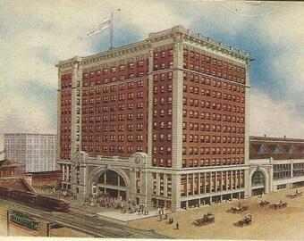 La Salle Street Station CHICAGO V G Hammon vintage postcard - great train station card Unused