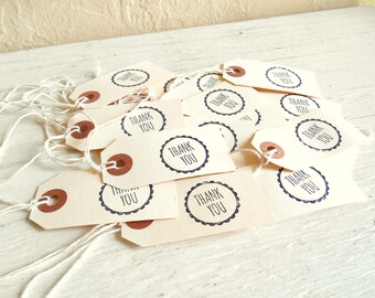 Thank You Stamped Manila Tags with String Gifts Wedding Favors Showers