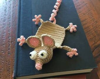 Book Mouse Crocheted Bookmark | Multiple Color Choices | Collect 'Em All | Book Lover Gift | Library Essential | Reading Rocks