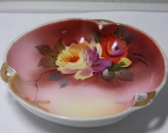 Vintage Noritake Floral Hand Painted Bowl Dish Made in Japan