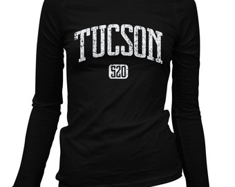 Women's Tucson 520 Long Sleeve Tee - S M L XL 2x - Ladies' Tucson T-shirt, Arizona - 3 Colors