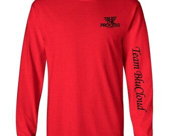 Trust The Process Tee (Long Sleeved) Black/Red