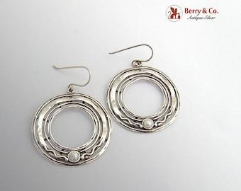 SaLe! sALe! Vintage Round Earrings Cultured Pearls Sterling Silver