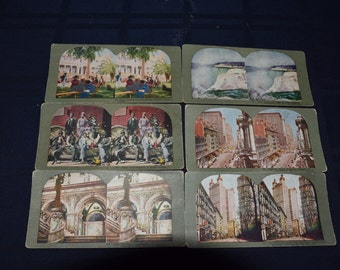 Scenes of America Stereoscope Cards - Set of 6