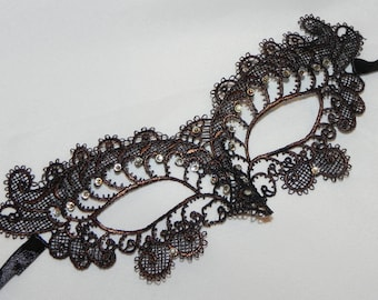 Bronze Soft Lace Masquerade Mask - Available in Many Colors