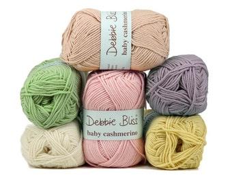 Debbie Bliss Baby Cashmerino 50g Knitting Yarn Baby Wool