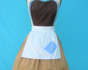 CINDERELLA apron, Cinderella  Work APRON, Princess apron,  womens full Apron, Cinderella costume, Cinderella dress up, cosplay costume
