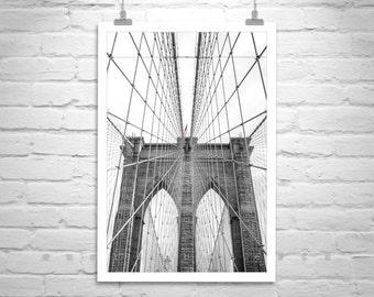 Brooklyn Bridge Photo, New York City Art, Black and White Brooklyn Bridge Art, Manhattan Photo, NYC Gift, Brooklyn Bridge Gift, NYC Art