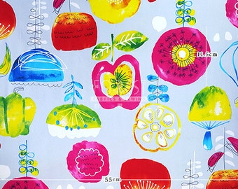 Cosmo oxford - water colour flower fabric -50cm