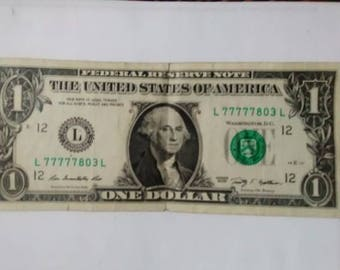 Dollar bill 77777 Super Lucky