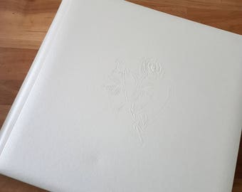 Creative Memories White 12x12 Shimmer wedding album and 2 sets pages (was 67.00 now 20.00)